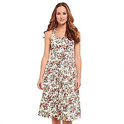 Joe Browns - Multi coloured floral print 'Charming' V-neck knee length tea dress