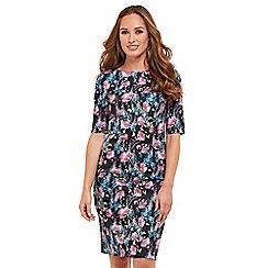 Joe Browns - Multi coloured floral print 'Blossom' knee length bodycon dress