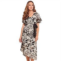 Joe Browns - Multi coloured floral print 'Mystical' V-neck midi wrap dress
