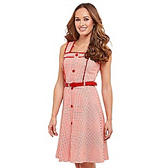 Joe Browns - Red checked 'Joe's Gingham' knee length skater dress