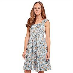 Joe Browns - Multi coloured floral print 'Delightful' knee length dress