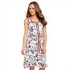 Joe Browns - Multi coloured floral print jersey 'Joyful Summer' knee length skater dress
