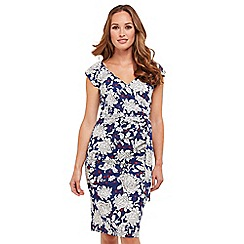 Joe Browns - Multi coloured floral print 'Charismatic' V-neck knee length bodycon dress