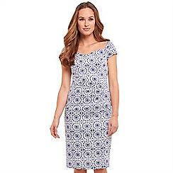 Joe Browns - Multi coloured patterned 'Fresh Summer' V-neck knee length bodycon dress