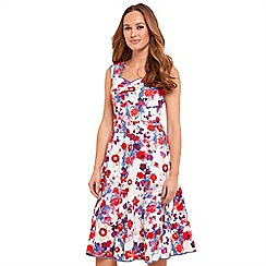 Joe Browns - Multi coloured floral print 'Sizzling Summer' V-neck knee length skater dress