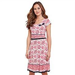 Joe Browns - Pink printed jersey knee length dress