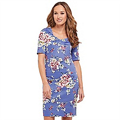 Joe Browns - Multi coloured floral print 'Romantic Summer' V-neck knee length bodycon dress