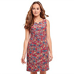 Joe Browns - Multi coloured floral print 'One Of A Kind' knee length shift dress