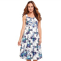 Joe Browns - Multi coloured floral print 'Santorini' V-neck midi summer dress