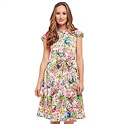 Joe Browns - Multi coloured floral print 'Lovely Occasion' knee length tea dress