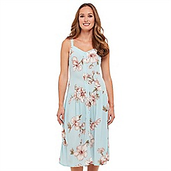 Joe Browns - Light blue floral print 'First Blooms' knee length summer dress