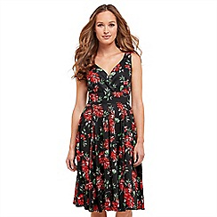 Joe Browns - Multi coloured floral print 'Romantic Floral' V-neck knee length tea dress