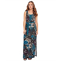 Joe Browns - Multi coloured floral print jersey 'Easy Wearing' full length maxi dress