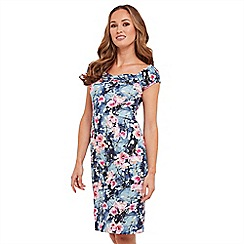 Joe Browns - Multi coloured floral print 'Summer Vintage' knee length bodycon dress