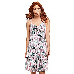 Joe Browns - Pink floral jersey 'Pretty' knee length summer dress