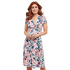 Joe Browns - Pink floral jersey 'So Quirky' knee length tea dress