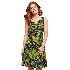 Joe Browns - Multi coloured floral 'Ravishing Reversible' knee length summer dress