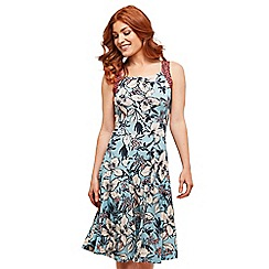 Joe Browns - Blue floral jersey 'Wonderful Time' knee length summer dress