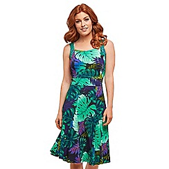 Joe Browns - Green floral jersey 'Wonderful Time' knee length summer dress