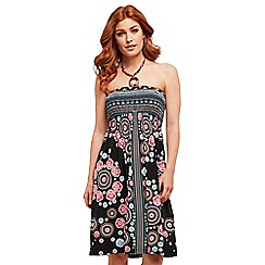 Joe Browns - Multi coloured floral jersey 'Love At The Beach' knee length summer dress