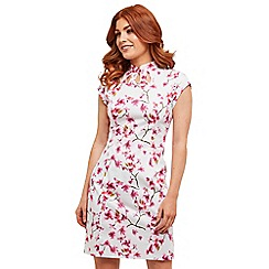 Joe Browns - White floral 'Elle's Favourite' knee length bodycon dress
