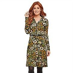 Joe Browns - Multicoloured floral jersey 'Truly Elegant' long sleeve knee length shirt dress
