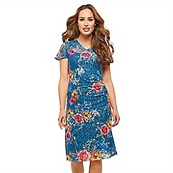 Joe Browns - Multicoloured floral lace 'Wintertime' knee length wrap dress