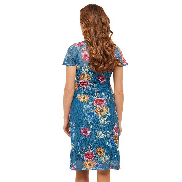 Multicoloured Joe Browns knee length wrap lace floral dress 'Wintertime' zTwUqT5