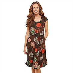 Joe Browns - Multicoloured floral jersey 'Crazy Circle' knee length dress