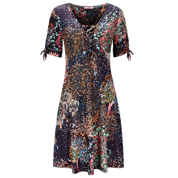 Trees' Multicoloured V floral 'The knee Woods Joe jersey dress length tea And Browns neck qBnHC4