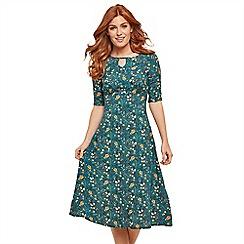 Joe Browns - Multicoloured floral 'Vintage Style' midi tea dress