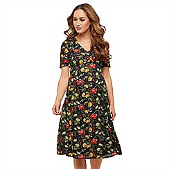 Joe Browns - Multicoloured floral 'Humming Laurels' V-neck midi dress