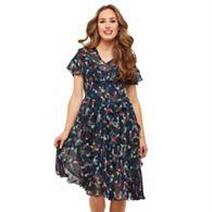 6a2d2e72de Joe Browns - Multicoloured floral  All The Frills  V-neck tea dress