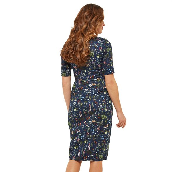 V Birdy' Browns Multicoloured neck Joe dress 'Glamorous length floral bodycon knee wBqTPPxW4C
