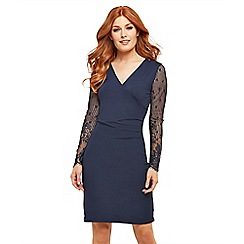 Joe Browns - Blue plain jersey 'Joe's' Simple' wrap dress
