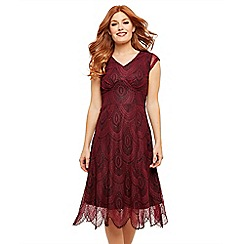 Joe Browns - Red 'Romantic Lace' skater dress