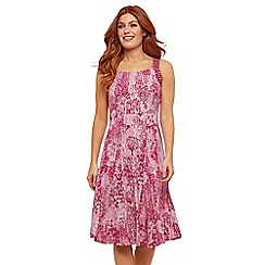 Joe Browns - Pink Floral Jersey 'Caroline's' Knee Length Tea Dress