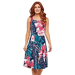 Joe Browns - Multicoloured Floral Jersey 'Caroline's' Knee Length Tea Dress