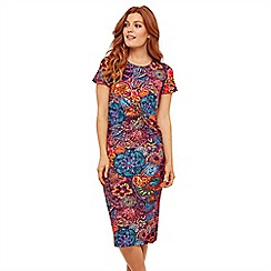 Joe Browns - Multicoloured Ethnic Print Jersey 'Bora Bora' Knee Length Dress