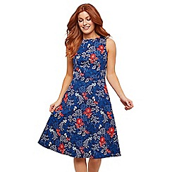 Joe Browns - Navy Floral 'Vintage Peacock' Knee Length Tea Dress