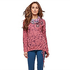 Joe Browns - Pink 'Utterly Unique' Cowl Neck Sweat