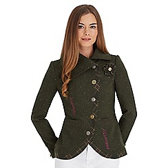 Debenhams green military coat