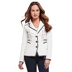 Joe Browns - White corset summer jacket