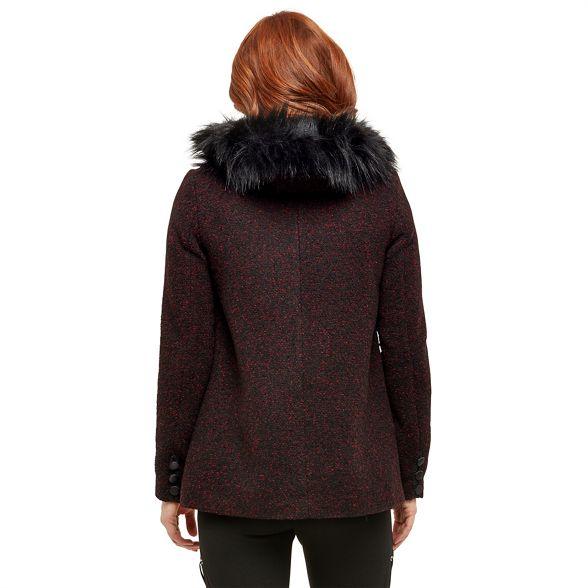 Joe faux Browns fantastic red jacket fur Dark UPUpqg1r