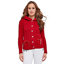 Joe Browns - Red chunky cable cardigan