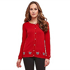 Joe Browns - Bright red butterfly cardigan