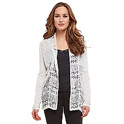 Joe Browns - White pointelle waterfall cardigan