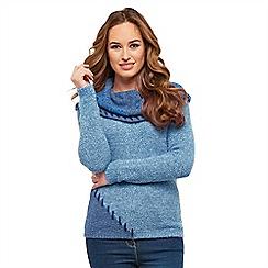 Joe Browns - Blue shawl collar jumper