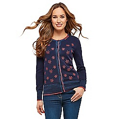 Joe Browns - Navy lovely embroidered cardigan