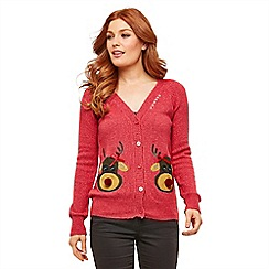 Joe Browns - Red rocking reindeer cardigan